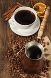 Kaffeestillleben Stockfotos