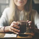 Kaffeestube-Entspannungs-Getränk-Freizeit-Konzept Lizenzfreie Stockfotografie