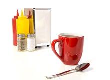Kaffeestube-oder Kaffee-Tischplatte stockfotos