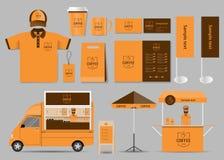Kaffeestube- und Restaurantidentitätsspott herauf Schablone vektor abbildung