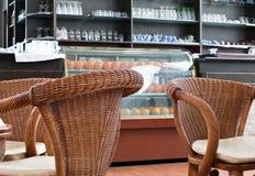 Kaffeestube und Stab Lizenzfreie Stockfotos