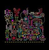 Kaffeestube-Vektor-Illustration Stockfotografie