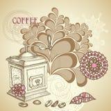 Kaffeestubeflieger lizenzfreie abbildung