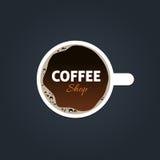 Kaffeestubelogoschablone Lizenzfreies Stockfoto