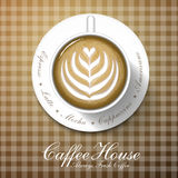 Kaffeestubemenü Stockfoto