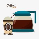Kaffeestubetopfglas-Schale Portable Lizenzfreie Stockfotografie