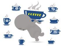 Kaffeesucht Vektor Abbildung