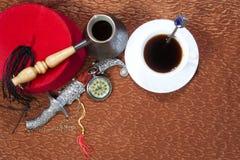 Kaffeetürkestillleben Stockfoto