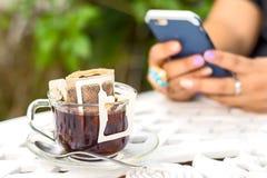 Kaffeetasche frisch Stockbilder