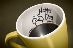Kaffeetasseüberraschung Lizenzfreie Stockfotos