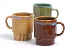 Kaffeetasse über Weiß Stockfotos