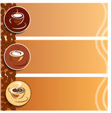 Kaffeetasse 3 Stockfoto
