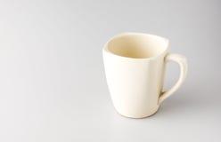 Kaffeetasse auf grauem Hintergrund, Urlaubraum für das Addieren des Textes Lizenzfreies Stockbild