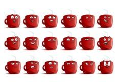 Kaffeetasse-Avataraikonensatz Stockfotos