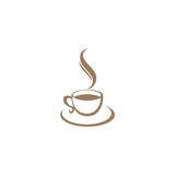Kaffeetasse-Cafélogo Lizenzfreies Stockfoto