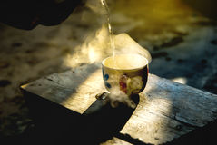 Kaffeetasse in der Morgenzeit Stockbilder