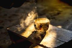 Kaffeetasse in der Morgenzeit Stockfoto