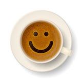 Kaffeetasse für gute Laune Stockfotos