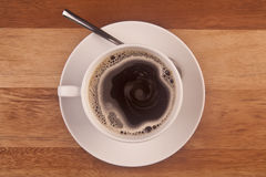 Kaffeetasse genommen von den Unkosten stockfotos