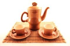 Kaffeetasse getrennt auf Weiß Lizenzfreies Stockfoto
