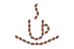 Kaffeetasse hergestellt von den Bohnen Stockfotos