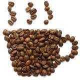 Kaffeetasse hergestellt von den Bohnen Lizenzfreie Stockbilder