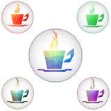 Kaffeetasse-Ikonen Raster 1 Stockfotos