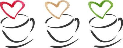 Kaffeetasse-Innere stock abbildung