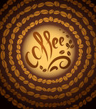 Kaffeetasse. Jazz der Bohne coffee.music stock abbildung