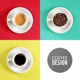 Kaffeetasse-Kunstdesign Lizenzfreies Stockbild