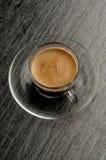 Kaffeetasse mit Bohne lizenzfreie stockbilder