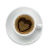 Kaffeetasse mit Innerem Stockfotografie