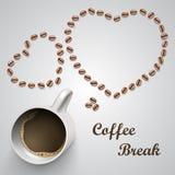 Kaffeetasse mit Mitteilung Lizenzfreie Stockfotografie