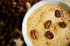Kaffeetasse mit Sahne Stockfotografie