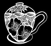 Kaffeetasse-Musterillustration Stockfotos