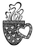 Kaffeetasse-Musterillustration Stockfotografie
