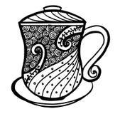 Kaffeetasse-Musterillustration Lizenzfreies Stockfoto
