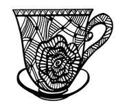 Kaffeetasse-Musterillustration Lizenzfreie Stockfotografie
