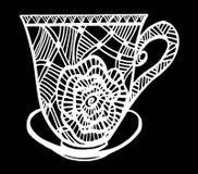 Kaffeetasse-Musterillustration Lizenzfreie Stockfotos