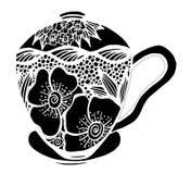 Kaffeetasse-Mustervektorillustration Stockbilder