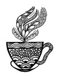 Kaffeetasse-Mustervektorillustration Stockfoto