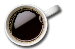Kaffeetasse - Tasse Kaffee mit Ausschnittspfad Stockfotografie