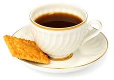 Kaffeetasse und Biskuit stockfotografie