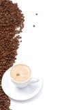 Kaffeetasse und Korn Stockbild
