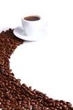 Kaffeetasse und Korn lizenzfreie stockfotos