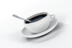 Kaffeetasse und Löffel Lizenzfreies Stockbild