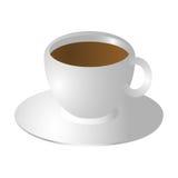 Kaffeetasse und Saucer Lizenzfreie Stockfotografie