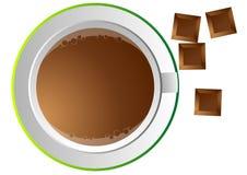 Kaffeetasse und Schokolade Stockfotografie
