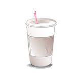 Kaffeetasse-Vektor-Illustration Stockfotografie