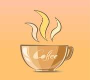 Kaffeetasse-Vektor-Illustration Lizenzfreies Stockbild